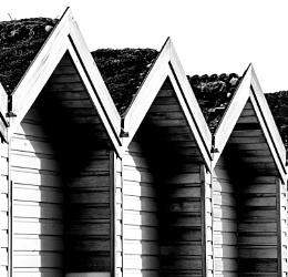 Beach huts at Blyth