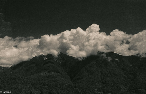 Clouds and Mountain by Swarnadip