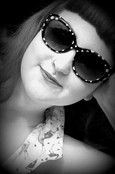 Jazzie, black and white. by pentaxpatty