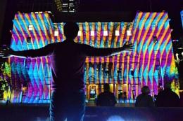 Light Extravaganza on Customs House, Sydney