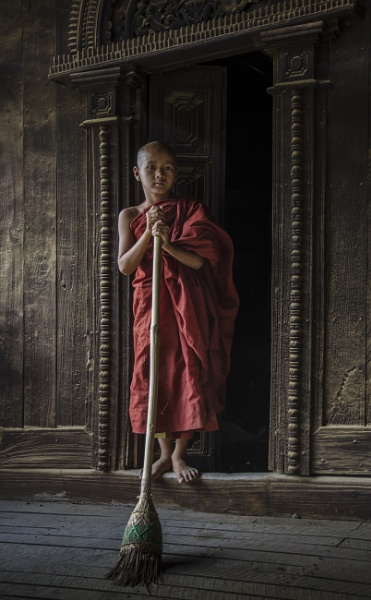 Young monk by NathalieM