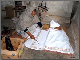 Rural handicraft artist...