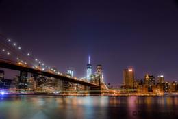 Blue hour at Brooklyn Bridge