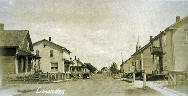 Norte Dame de Lourdes 1930 Quebec Canada original by kaoskode