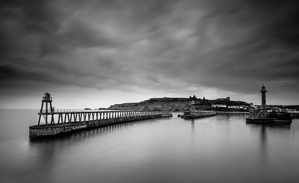 Whitby Piers Mono by pdove