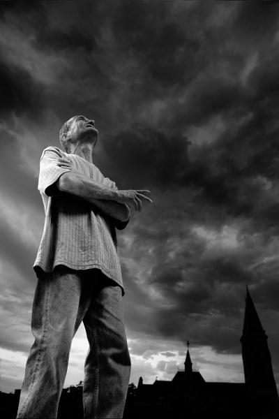 Man and sky by jovanovic