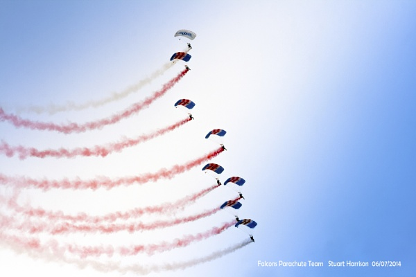 Falcon\'s Parachute Team by dynexclick