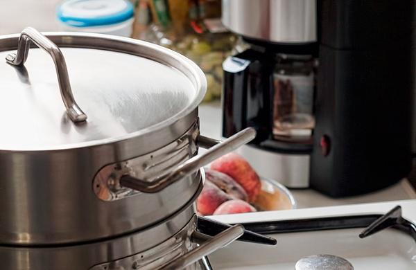 kitchen utensils and wild peaches by macdaniel