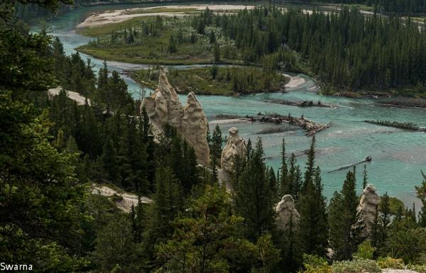 Hoodoo - Banff, Alberta by Swarnadip