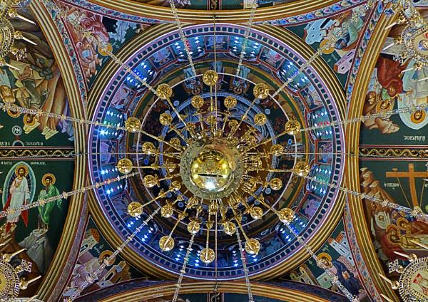 Church dome of Agia Paraskevi, Kalyves, Crete by SteveMcHale