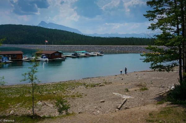 Two of us -  Lake Minnewanka, Banff, Albereta by Swarnadip