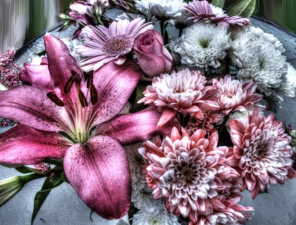 metalic flowers by DebsMk