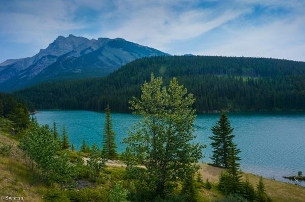 Two Jack Lake, Banff Alberta by Swarnadip