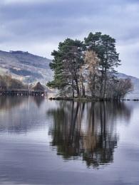 Crannog on Loch Tay