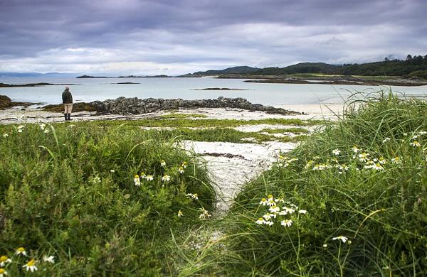 Arisaig Beach with Coastal Path by Irishkate