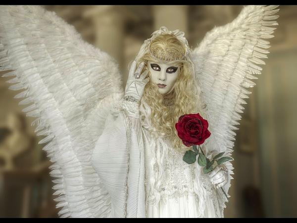 Angel with rose by JoHa