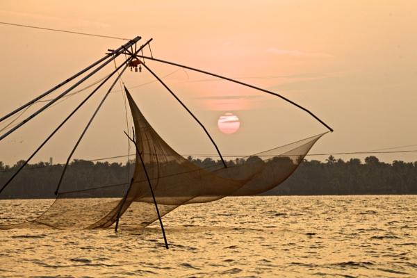 Chinese Fishing Net - Kerala by alansnap