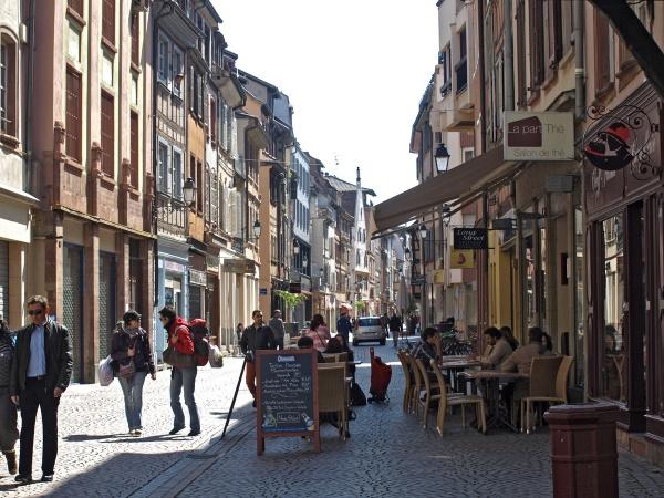 Strasbourg main street by JuBarney