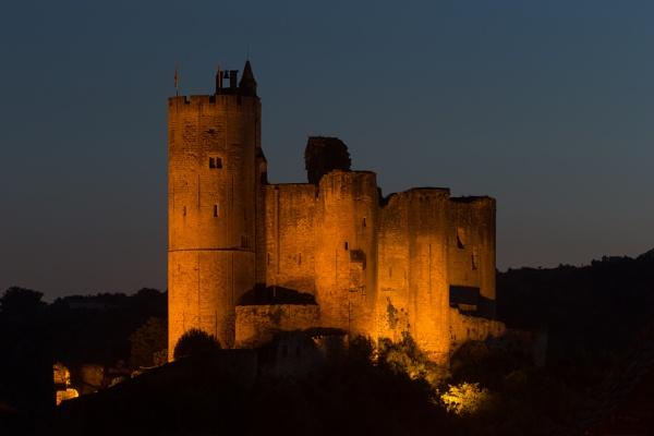 Najac Castle at Dusk by livinglevels