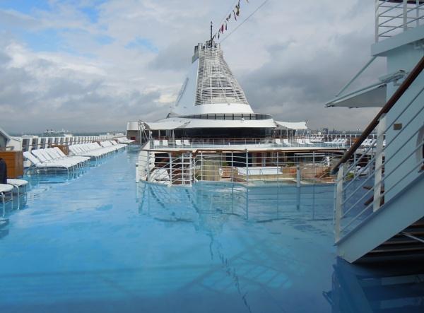 Oceania Cruises Marina by tractor