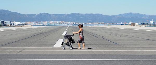 Gibraltar runway by NeilSchofield