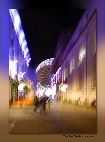 Neon Bright West End Night by LynneJoyce