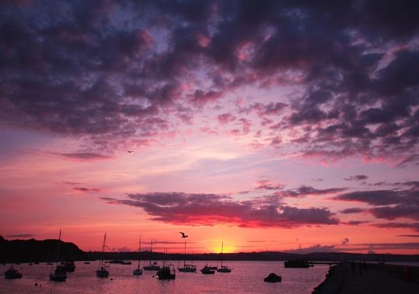 Brixham sky and sunset by Bigdenbo
