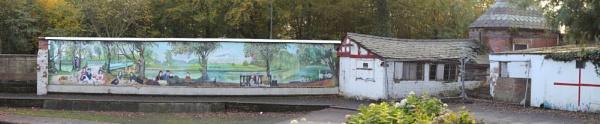 Botanic Gardens boathouse wall by jakrabbit