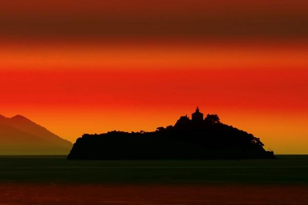 Island on the Dalmatian Coast by sandwedge