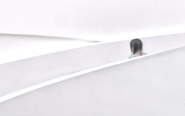 Girl on the staircase by judidicks
