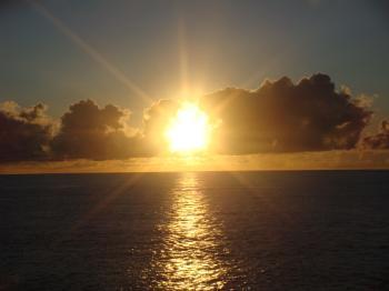 sunset @ pacific ocean