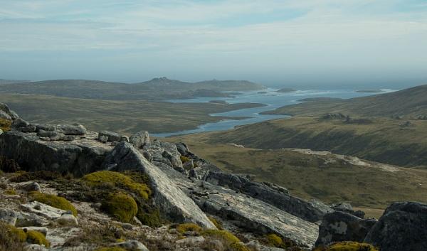 View from Mount Alice,West Falklands. by Kim Walton
