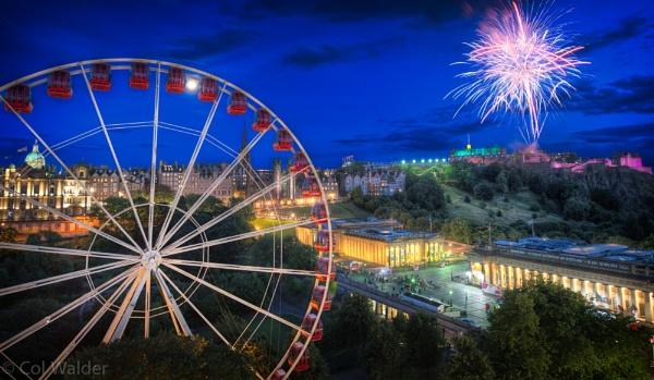 Edinburgh Tattoo Fireworks by ColWalder