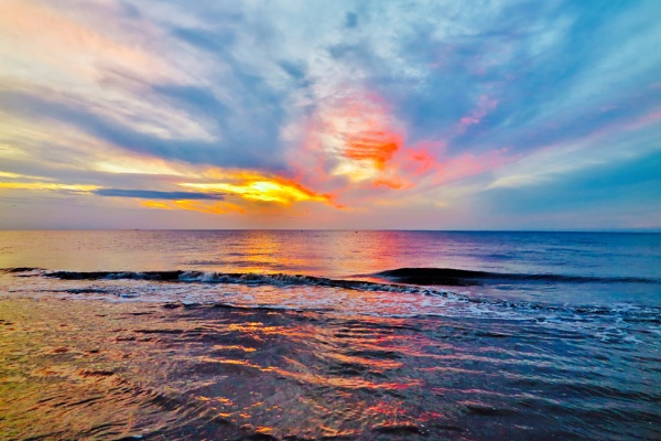 Hunstanton \'A Wash of Colour\' by pdgarside