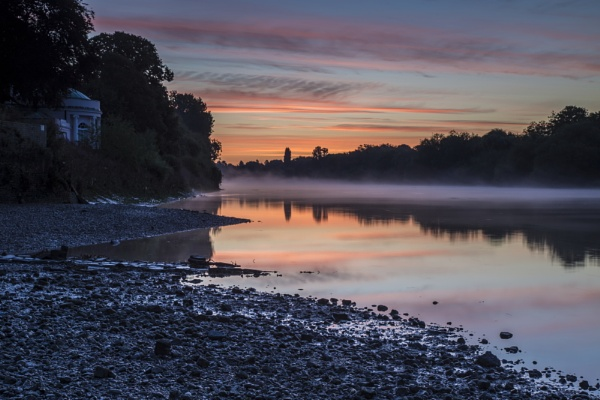 sunrise at low tide by mickthebrick