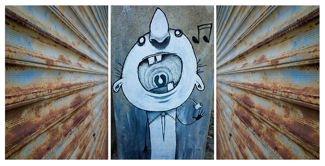 en ville ( graffiti )