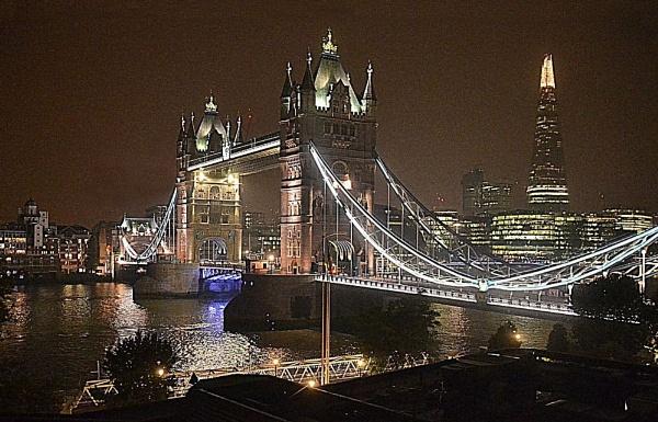 Tower Bridge At Night. by rpba18205