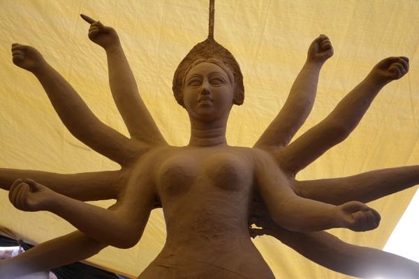 Prepration for Durga puja begain in Bikaner Rajasthan India by desert_photographer