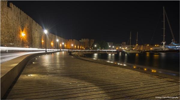 Rhodes by night by GeorgePlatis