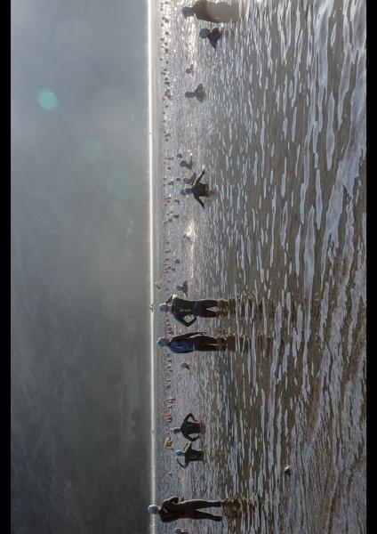 Swimming in Ullswater, 9 bar Helvellyn Triathlon Sept 2014 by PeteBailey