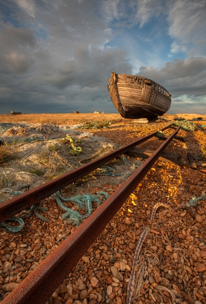Dungeness tracks by clive burrow