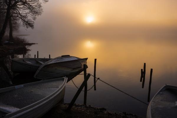 Sunrise, Loch Achray by RayBeck