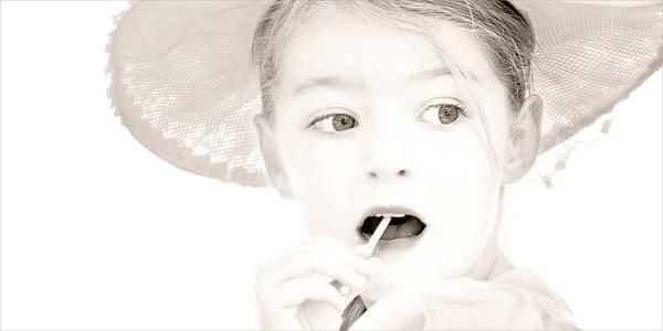 Girl in a Lace Bonnet by Dixxipix