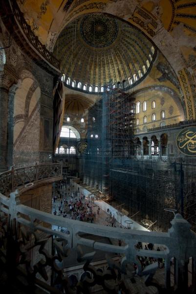 Red Mosque, Istanbul, Turkey by Kim Walton