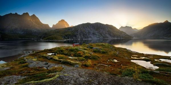 Sunset at Solbjørnvatnet by ColWalder