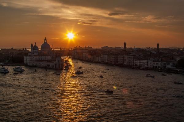 Venetian Sunset by Bazzaspal