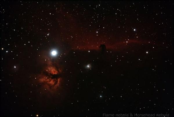 Horsehead nebula & flame nebula by Aenima
