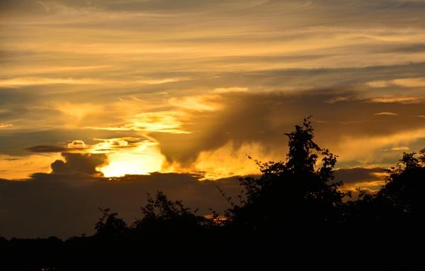 fire in a morning sky by jimlynch8