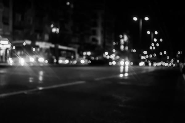 Blurry 3 - Salonica night street by derrymaine