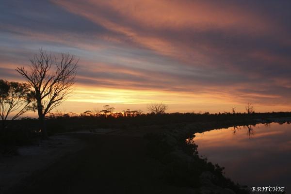 sunset westurn australian by BRITCHIE